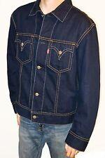 Levi's Denim Type 1 Blue Jeans Iconic Trucker Jacket Men's Sz XL X-Large Nice!!