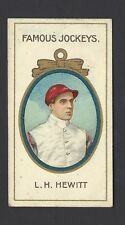 TADDY - FAMOUS JOCKEYS (WITH FRAME) - L H HEWITT