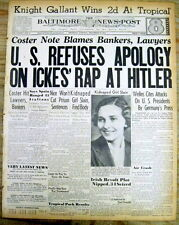 1938 newspaper US CONDEMNS HOLOCAUST & Nazi Germany HITLER 's treatment of Jews