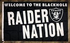 "Oakland Raiders ""Raider Nation"" Flag 3x5 ft Man-Cave Banner Flag The Blackhole"
