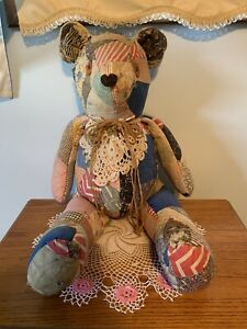 Large Antique Patch Handstitched Teddy Bear