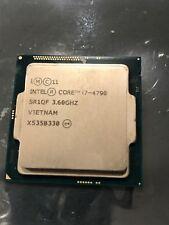 Intel i7-4790 Quadcore CPU 8MB Cache 3.6ghz (Turbos 4.0ghz) socket LGA1150 non-k