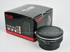 Speed Booster II adapter Turbo Canon EOS EF to Fujifilm Fuji FX Xpro2 X-T2 X-T10