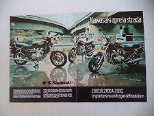 advertising Pubblicità 1982 MOTO KAWASAKI Z 1300/Z 650 SR/Z 1100 A