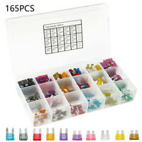 165 Pack ATC ATO APR ATS Blade Fuse Assortment Auto Car Motorcycle SUV FUSES Kit