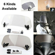 Motorcycle Bikes Adjustable Clip On Windshield Extension Spoiler Wind Deflector