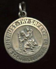 Vintage Georg Jensen Sterling Silver St Christopher Pendant / Charm 1.8cm 3.7grm