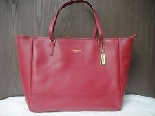 NEW COACH LARGE SAFFIANO CORAL TOTE SV/CORAL LEATHER #23822