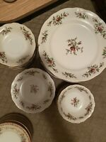 Traditions johann haviland moss rose china 5 Piece Set (60 Pieces)