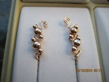 Pair Rose Goldl Ear Vines Climbers Ear Pins