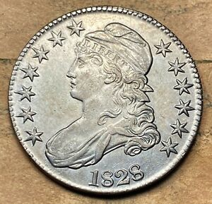 1828 Capped Bust Half Dollar  Choice UNC BU