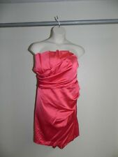 Davids Bridal Dress Plus Size 26 Guava Strapless Crumb Catcher 84835 NWT