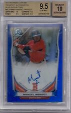 2014 Bowman Chrome Blue Refractor Auto Manuel Margot 044/150 BGS 9.5 10 AUTO