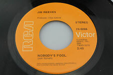 Jim Reeves: Nobody's Fool / Why Do I Love You (Melody of Love)   [Unplayed Copy]
