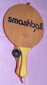 NEW Smashball 2 Paddles Ball Toy Retro