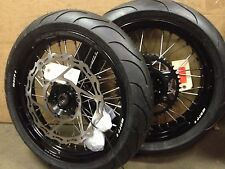 "Warp 9 17"" Supermoto Wheels with Michelin Tires Suzuki RMZ250 RMZ450"