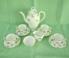 More details for vintage adderley summer floral 11 piece china coffee set -h345 -4 cups & saucers