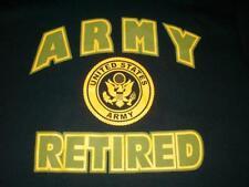 United States Army Retired US Military Black T-shirt Men's Medium used