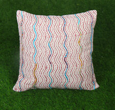 Dari Embroidered Cushion Cover Cotton Bohemian Pillow Cover Red Decorative Throw