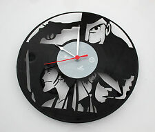 Orologio da parete da muro design disco in vinile artigianale tipo Lupin unico