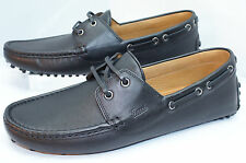 New Gucci Mens Black Shoes Loafers Drivers Size G 11.5 Leather