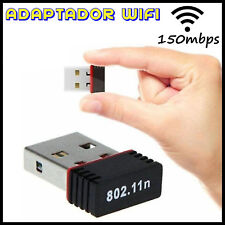 ADAPTADOR WIFI 150Mbps PARA PC, PORTATIL RECEPTOR MINI USB WIRELESS LAN