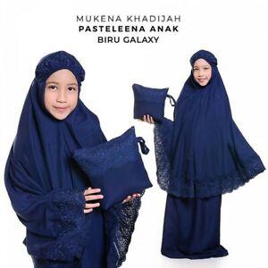 Muslim Kid Long Scarf Islamic Prayer Hijab Pastalena Overhead Salah Khimar Set