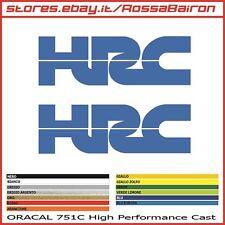 2 ADESIVI HONDA HRC - COPPIA ADESIVI HONDA HRC mm. 50