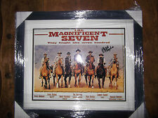 Signed Robert Vaughn in The Magnificent Seven framed with coa