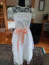 Vintage Diamond Run Lace Dress size 5-6