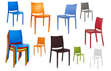 PLASTIC OLYMPUS CHAIRS GARDEN,DINING,CAFE,PATIO,OFFICE ARMLESS+STACKABLE CHAIRS