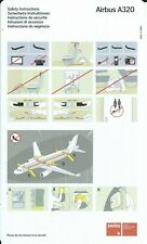 Safety Card - Swiss International Air Lines - A320 - c2006 (S4236)
