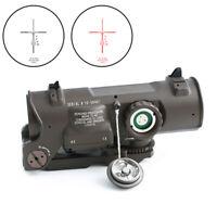 Riflescope 1x-4x Fixed Dual optical sight Red illuminated Scope for Hungting