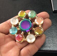 Bijoux Diamond Spinner Fidget Focus Aluminium EDC portant ADHD Autisme jouets (s9