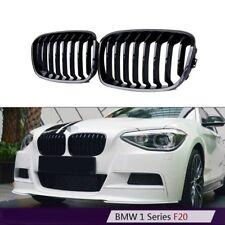 Reins Calandre Noir Shadow Brillant Pour BMW 1er f20 à partir de 2011-ca.03//2015