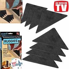RUG CARPET MAT GRIPPERS RUGGIES NON SLIP SKID REUSABLE GRIPS UK STOCK