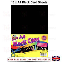 ArtBox A4 Black Card (Pack of 15 Sheets)(6873) Fun For All Crafts Design
