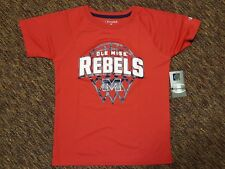 NCAA Mississippi Ole Miss Rebels Boys Basketball Medium 8/10 Red T-shirt