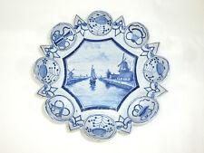 Wandteller / Teller / Schale Keramik Makkum Niederlande um 1860-1890