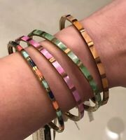Colorful Brass and Bone Bangles