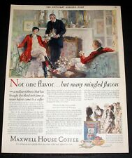 1928 OLD MAGAZINE PRINT AD, MAXWELL HOUSE COFFEE, NOT ONE, MANY MINGLED FLAVORS!