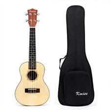 Kmise Concert Ukulele Uke Acoustic Hawaii Guitar 23 Inch laminated Spruce W/Bag