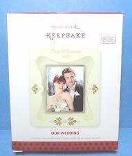 "Hallmark ""'Our Wedding"" Photo Ornament 2013"