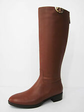 New Tory Burch Sidney Boot Hi Veg 31441 Penny Brown Leather 8.5