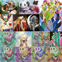 5D DIY Special Shaped Diamond Painting Owl Cat Cross Stitch Mosaic Craft Kit
