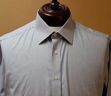 Charles Tyrwhitt Non Iron Button Front LS Dress Shirt Striped sz 16.5 34 England