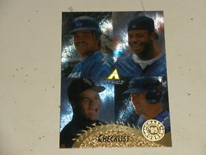 1995 Pinnacle Museum Collection #450 Mike Piazza Ken Griffey Jr Frank Thomas