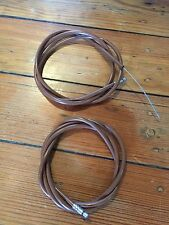 (2) NOS 1980's Brown Mountain Touring Cable Housings-Suntour Mighty-Stumpjumper