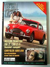 RETROVISEUR n° 139; Dossier Aston Martin DB 2-DB 2/4/ Chrysler Airflow/ Coccinel
