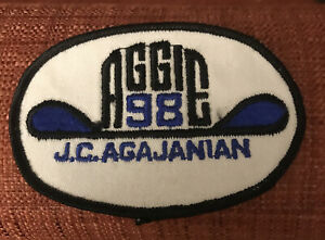 "Vintage '60s Nascar Indy 500 J.C. AGAJANIAN ""Aggie 98"" Race Team patch"